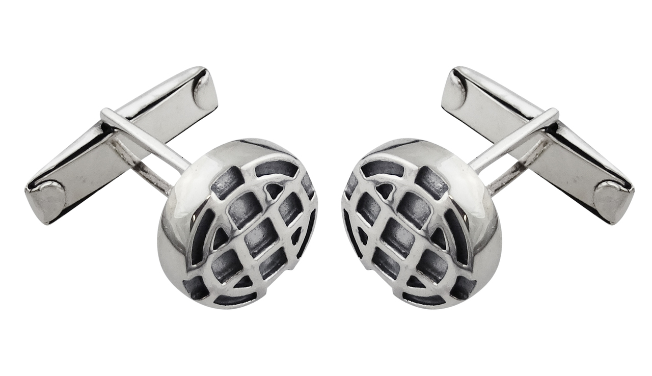 Round Celtic Cuff Links - 925 Sterling Silver - Mens Gift Shirt Cufflinks NEW
