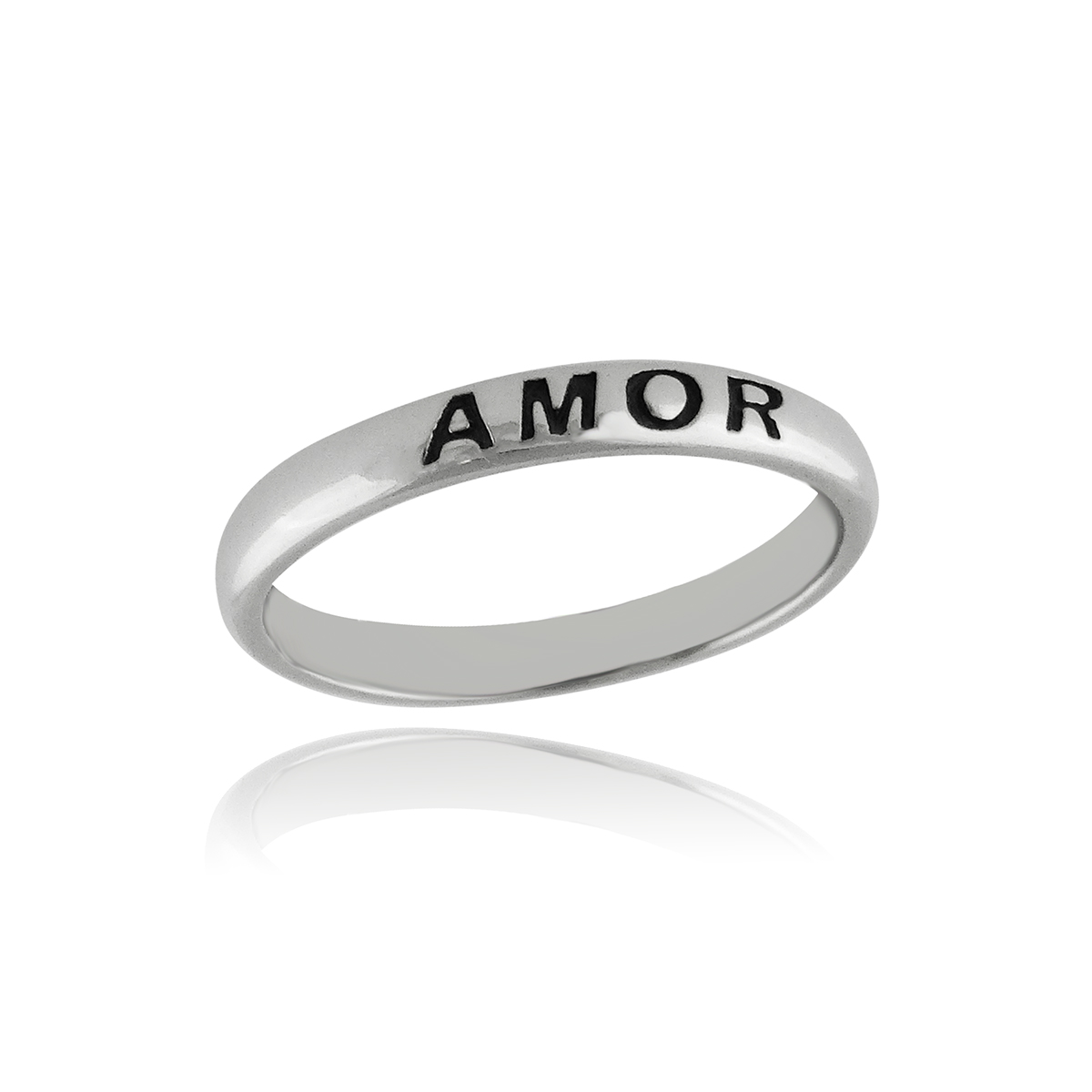 Amor Narrow Band RING - 925 Sterling Silver
