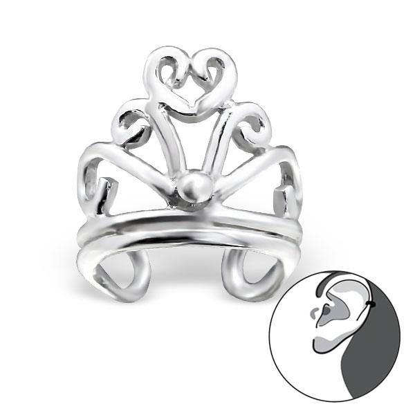 Crown EAR CUFF - 925 Sterling Silver