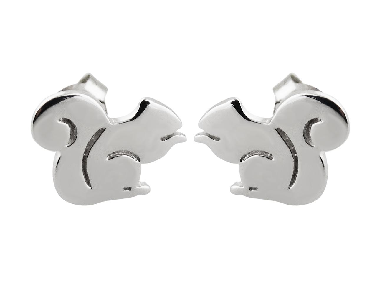 Squirrel STUD EARRINGS - 925 Sterling Silver