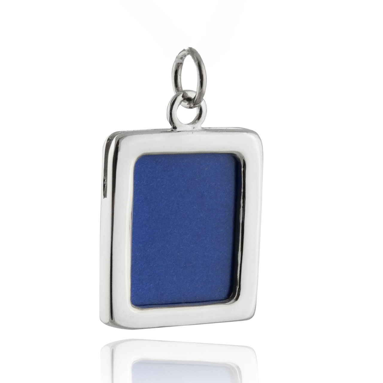 Rectangle Photo Charm 2-Sided - 925 STERLING SILVER