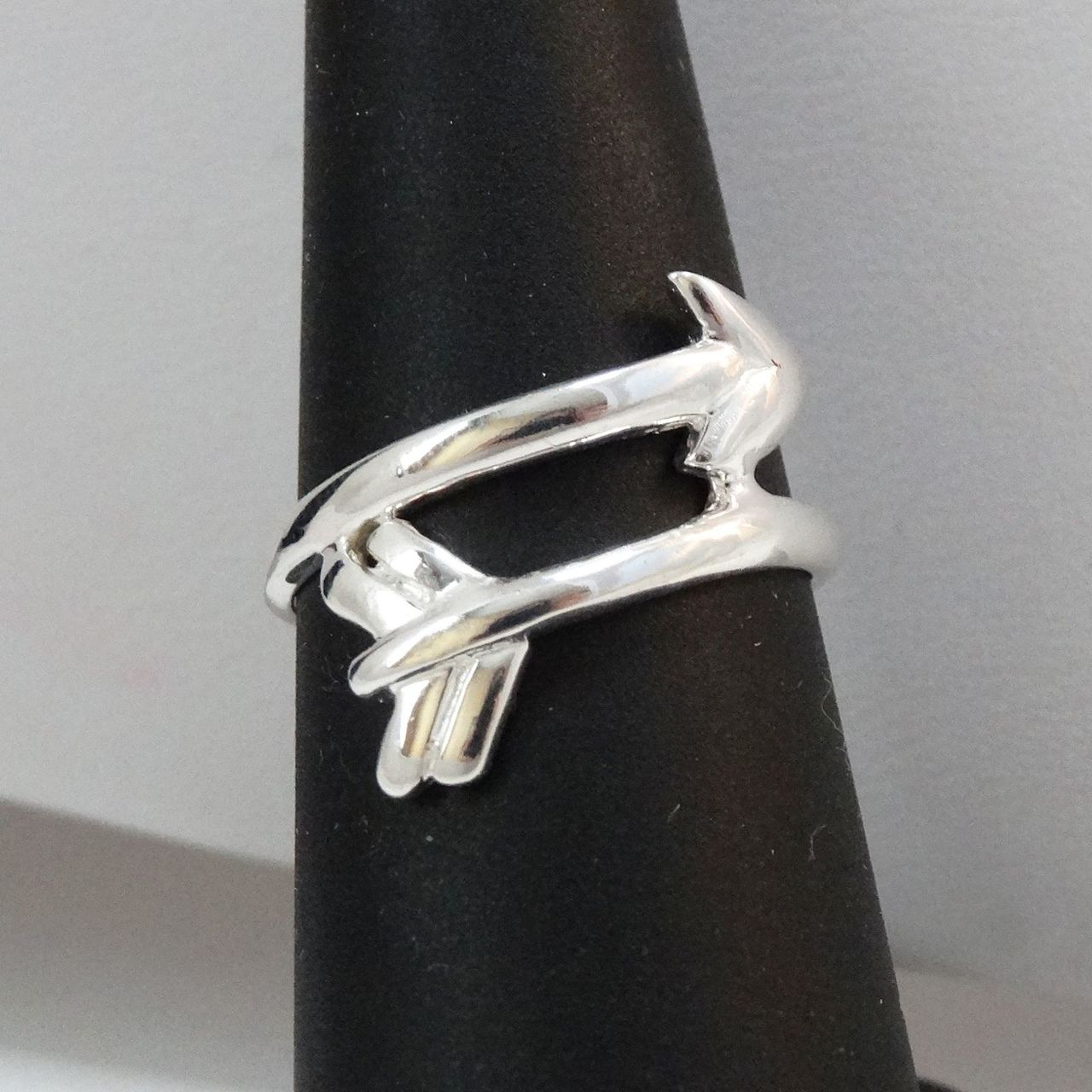 Arrow Ring - 925 Sterling Silver - Sideways Wrap Arrows Archery JEWELRY NEW