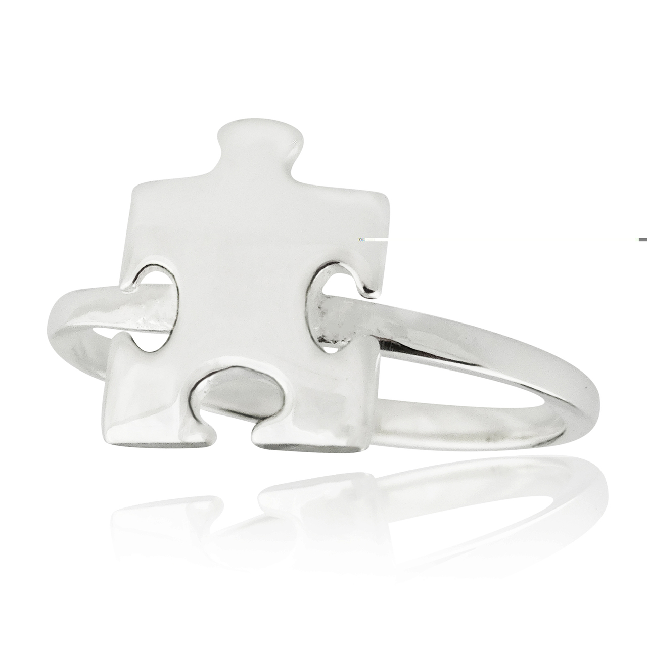 Jigsaw PUZZLE Piece Ring - 925 Sterling Silver