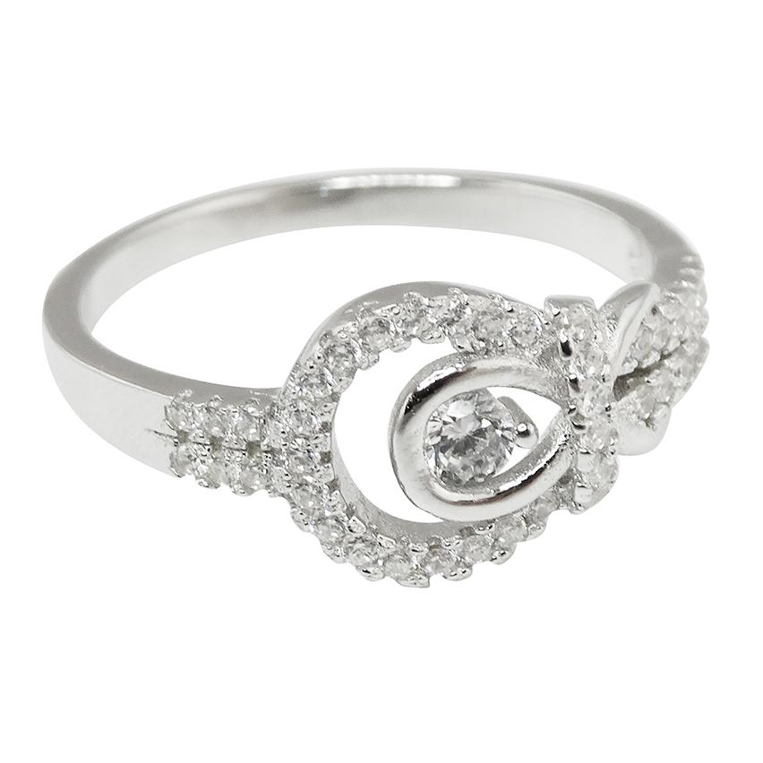 Infinity BELT BUCKLE CZ Ring - 925 Sterling Silver