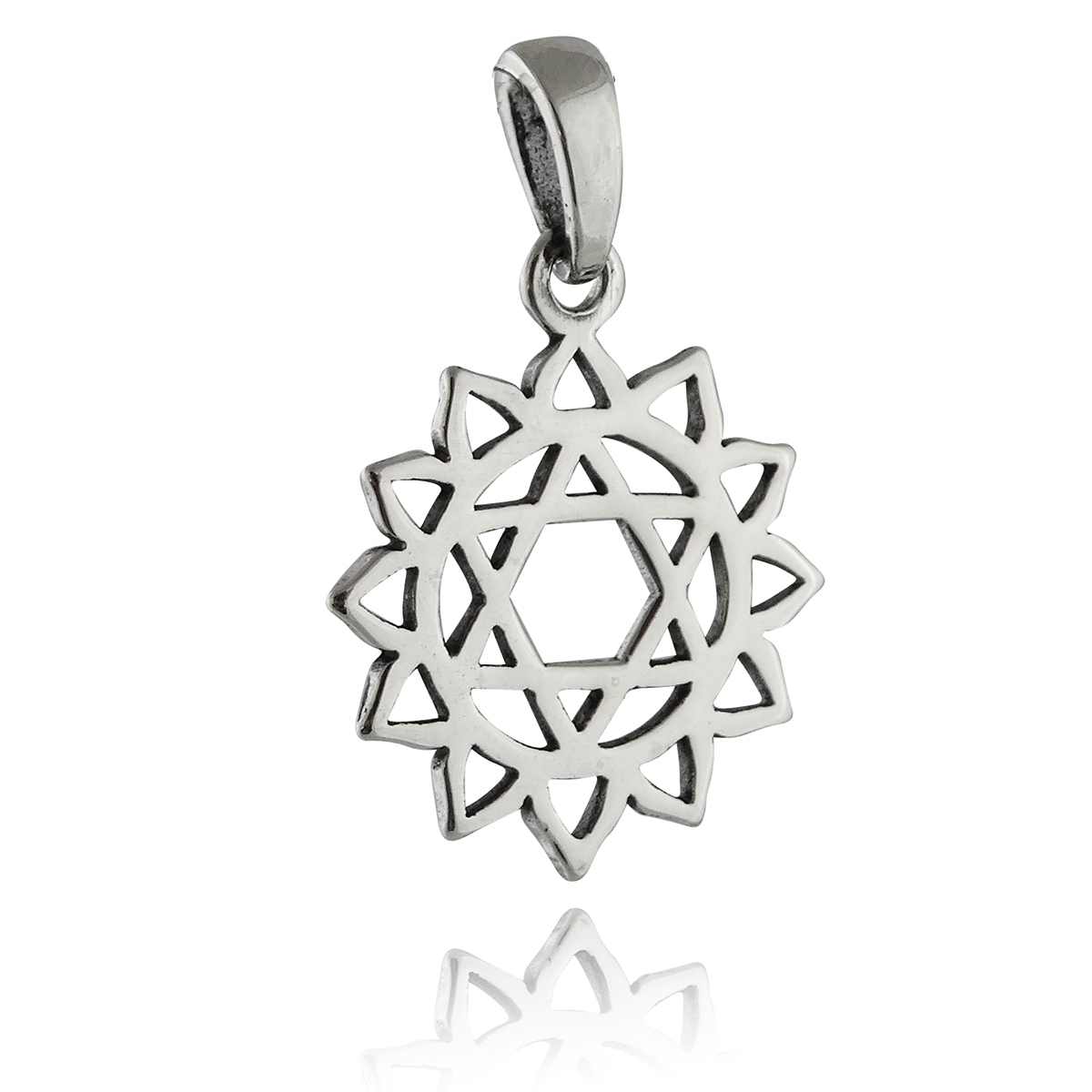 Sterling Silver Heart Chakra Outline Charm