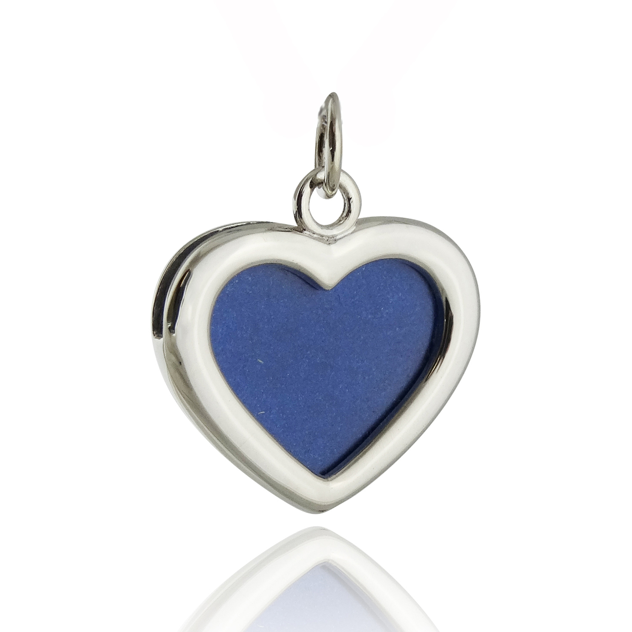 Heart Photo Charm 2-Sided - 925 STERLING SILVER