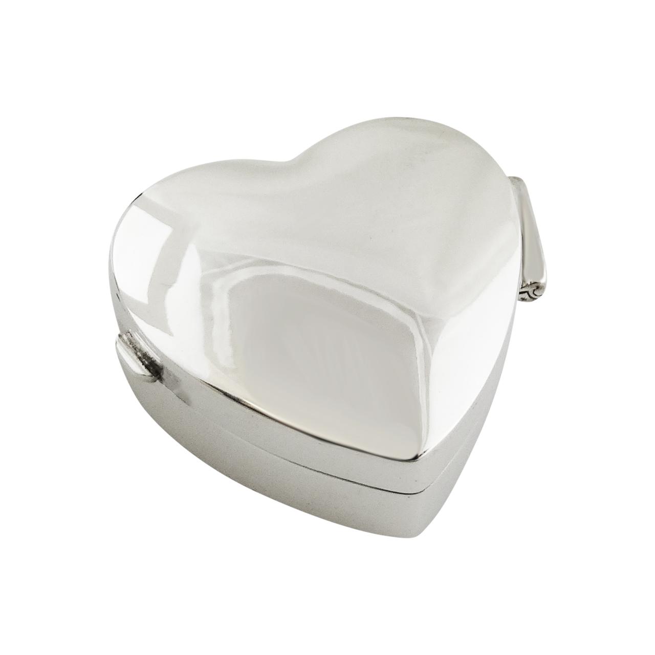 Heart Pill BOX or Keepsake Case - 925 Sterling Silver