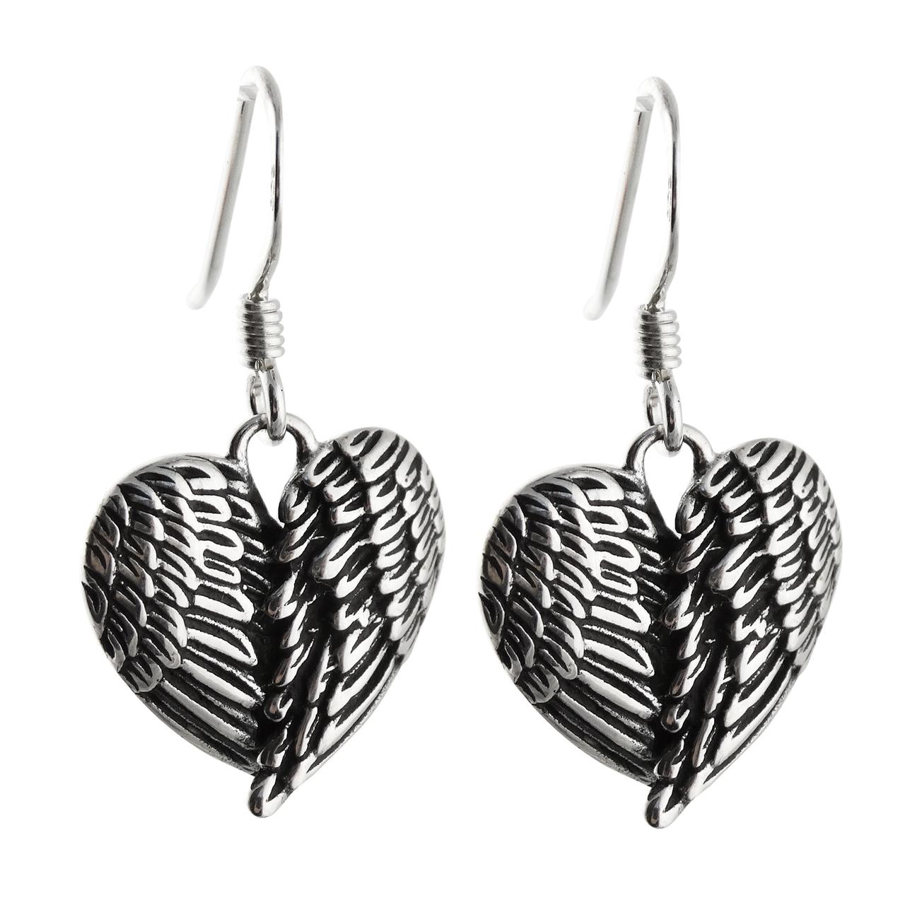 Angel Wing Earrings - 925 Sterling Silver