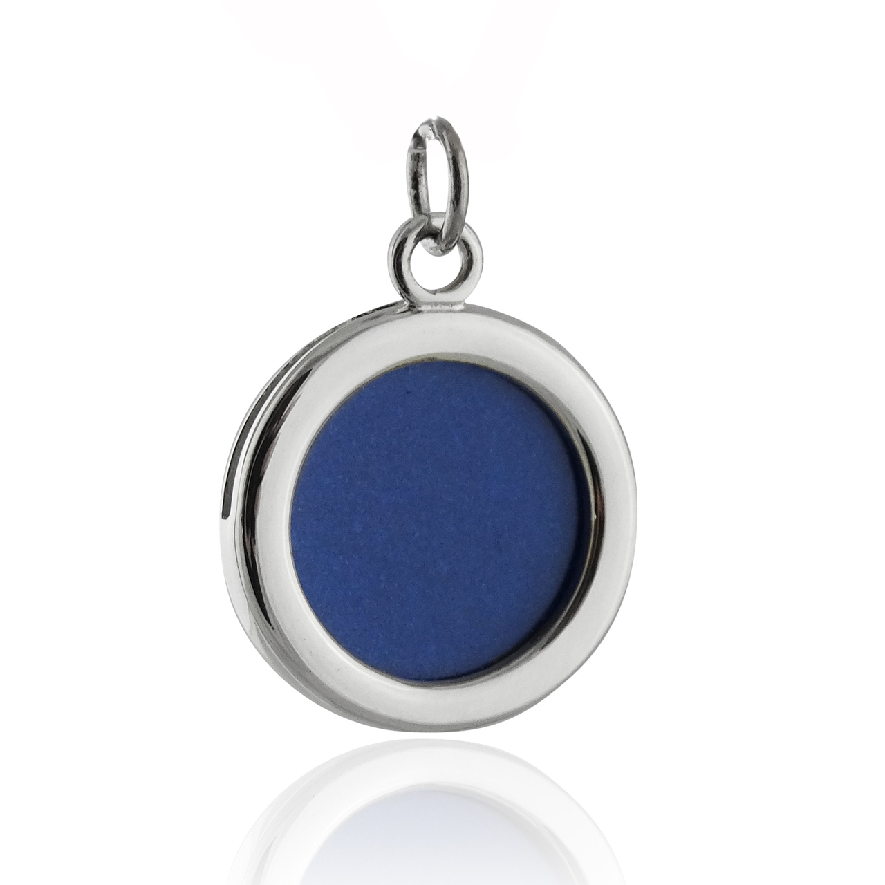 Round Photo Charm 2-Sided - 925 Sterling Silver