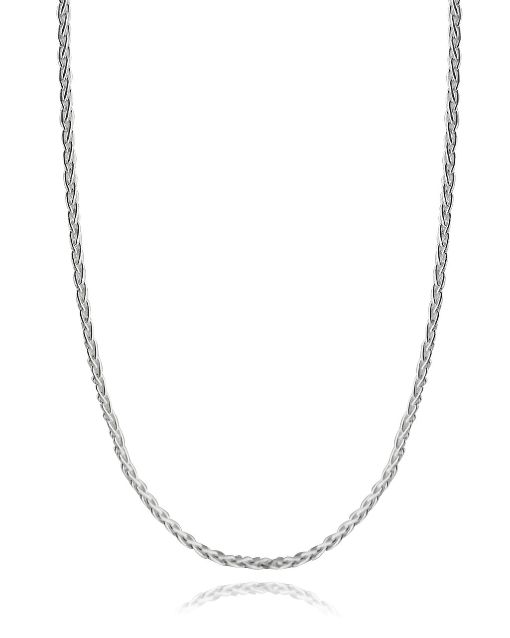 ''Spiga Wheat Chain - 925 Sterling Silver 3mm DIAMOND Cut Italy 16''''-30'''' NEW Italian''