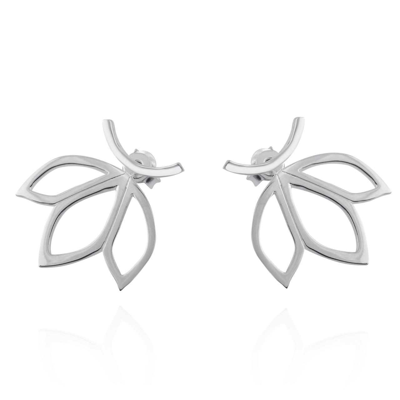 Lotus Petal JACKET Earrings - 925 Sterling Silver